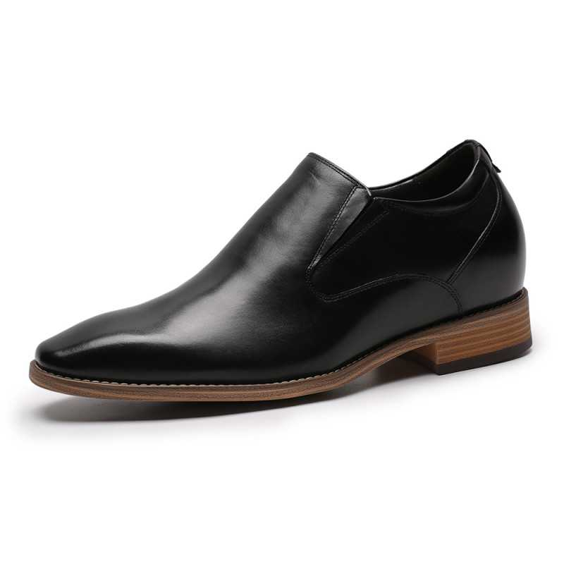 zapatos cuero con alzas oliviero